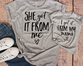 mommy and me shirt set, gifts for her, Mommy and Me Shirts / Matching Mother Daughter / Mom and Son Matching Outfits / Mommy and Me Outfits