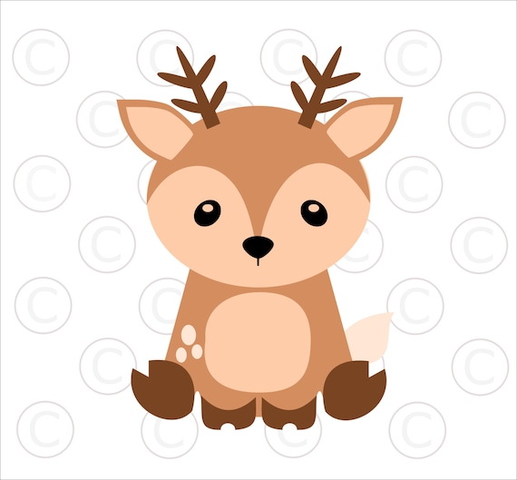 baby woodland animal svgs baby deer cut files woodland animal clip rh etsystudio com cartoon baby deer clipart mom and baby deer clipart