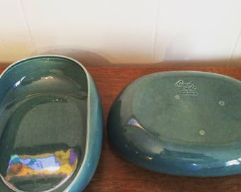 Pair Russel Wright Steubenville Serving Bowls