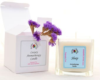 Luxury Sleep Candle | Boxed Candle | Friend Gift | Gift | Soy Wax Candles | Lavender Candles | Aromatherapy Candle | Best Luxury Candle