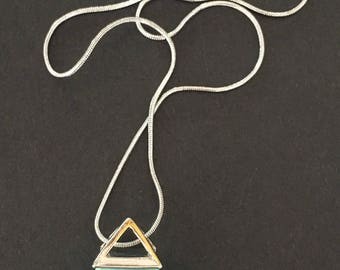 Howlite Pyramid Necklace