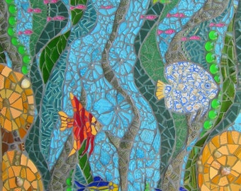 The Water Goddess - mosaic picture