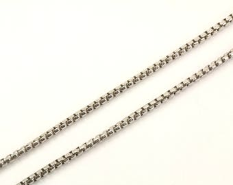 Vintage Italy Box Chain Necklace 925 Sterling NC 1012