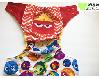 Inside out, Anger One Size Pocket Diaper, Cloth Diaper (Photoshoot)