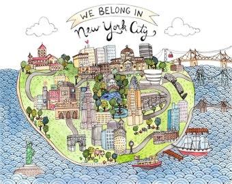 "New York City Love Print 8.5x11"""
