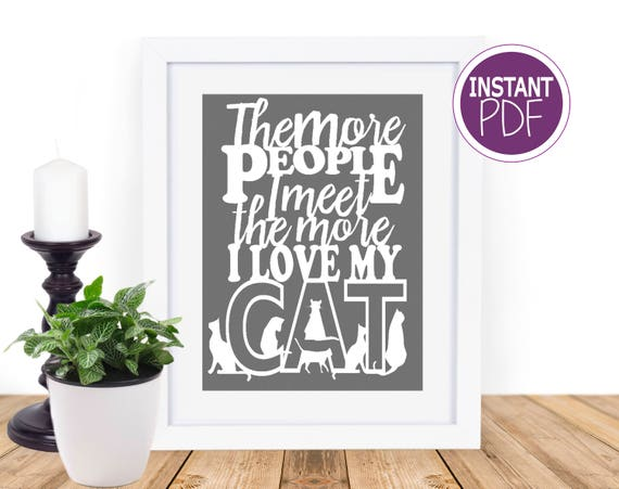 Cat Papercut Template