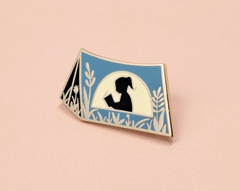 Book Scout Pin | Hard Enamel, Enamel Pin, Lapel Pin, Flair, Reading Enamel Pin, Tent Enamel Pin, Gifts for Librarians, Gifts for Readers