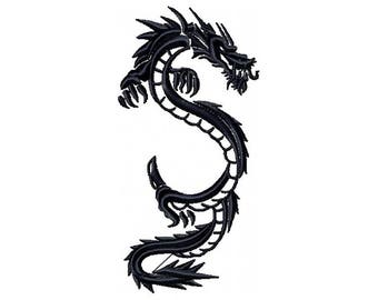 Machine Embroidery Design - Chinese Dragon Tattoo - Tribal Dragon #4
