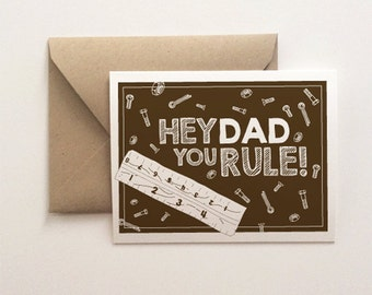 Hey Dad, You Rule Father's Day Card