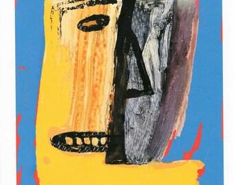 Robot Print, The Expressionist, Robot Artist Portrait,  Robot World Giclee Print, Robot Wall Decor