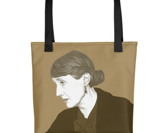 Virginia Woolf - Author Quote Tote | Literary Tote | Bloomsbury Group | Book Bag | Bookworm Gift | Literary Gift | Bookish Gift for Her