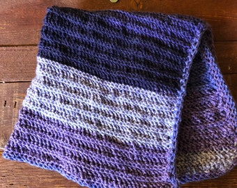Purple Striped Baby Blanket