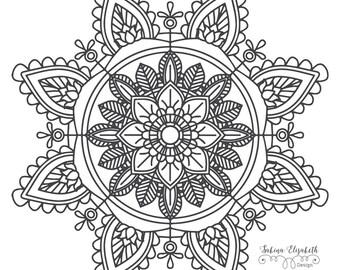 Mandala 2, clipart, digital drawing