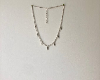 Silver Boho Choker Necklace with arrow charms
