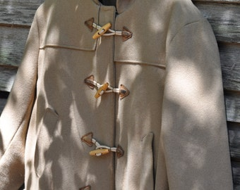 Vintage Schott N.Y.C. Camel Hooded Duffel Coat with Wooden Toggles