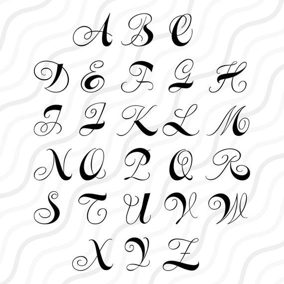 Download Curls Monogram Font SVG Cricut Monogram Font SVG Monogram