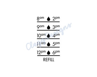 Water Bottle Sticker SVG, Water Tracker Decal Digital Design, Instant Download, JPEG, Silhouette V3 File, Water Tracker SVG, Print, Clip Art