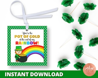 St Patrick's Day Tag | St Pattys Day Favor Tags | St Patty's Day School Treat Tags | St Patricks Day Party Favor Tags INSTANT DOWNLOAD