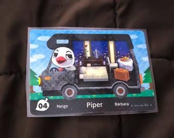 Piper the Peppy Duck #04 Animal Crossing RV Amilibo Card HTF - RARE