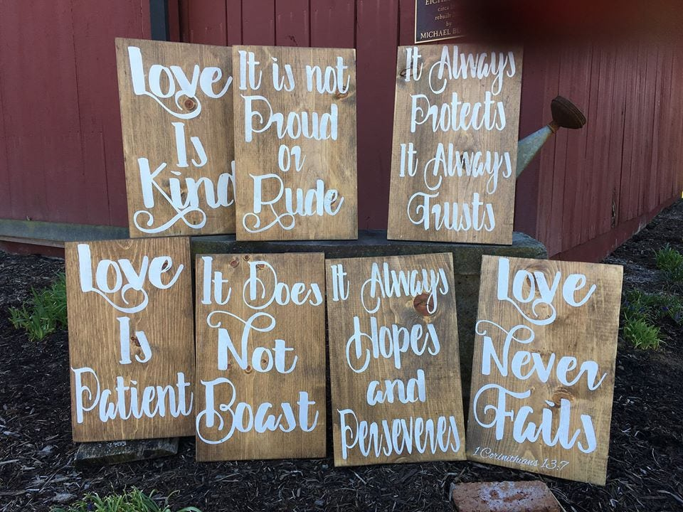 Wedding Reading Love Is Patient: Love Is Patient Aisle Signs For Wedding Set Of 8