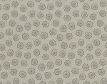 SALE - RJR Fabrics - Taupe Flower (RJR090516) Sand and Stone - Cotton fabric by the yard(s)