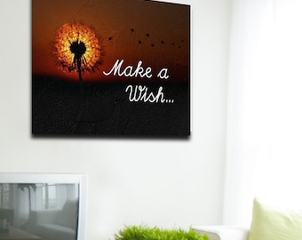 Make A Wish Dandelion Wish Framed Canvas Wall Art For Your Home Art Bedroom Art Living Room Decor Art Wish Art Dandelion