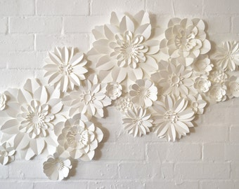 Set Of 22 Handmade Paper Flowers