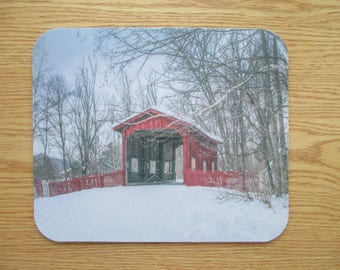 Country Covered Bridge Mouse Pad