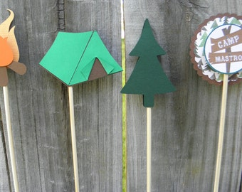 Camp Cupcake Toppers