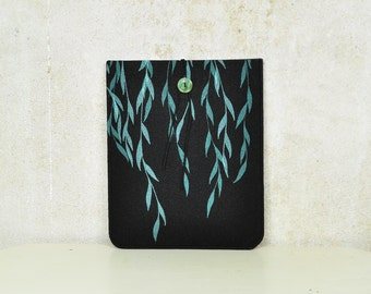 iPad / iPad Air sleeve - case - cover with Pattern, Willow Silkscreen Printed Felt