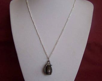 Necklace pendant men grenade