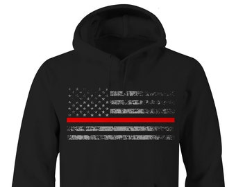 Thin Red Line Firefighter Hoodie, Fire Fighter Hoodie, Fire Department Hopdies, Firefighter Hoodie, Fire FighterHoodies, Fire Department