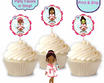Spa party cupcakes Etsy