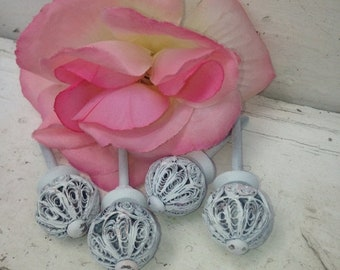 SALE SALE SALE Drawer Pulls / Drawer Knobs  / Set of 4 knobs / Door Knobs/ Furniture Fixture/ Home and Garden