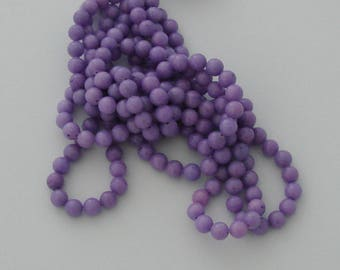 10 pearls 8mm purple jade