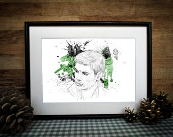Dean Winchester Supernatural - Supernatural gift - Dean Girl gift - Winchester Gift - Dean Winchester Gift - Easter Gift - Winchester