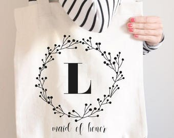 Matron of Honor Bag, Maid of Honor Tote, Maid of Honor Bag, Maid of Honor Gift // make your set