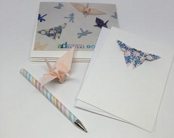 blank origami notecards 5 pack
