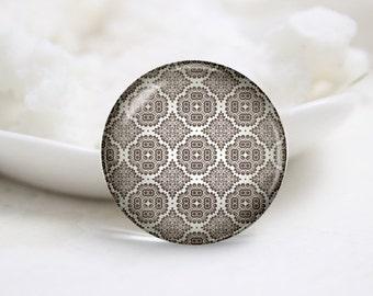Handmade Round Glass Photo Cabochons-Tiling (P3261)