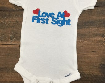 Love at first sight baby cupcake bodysuit