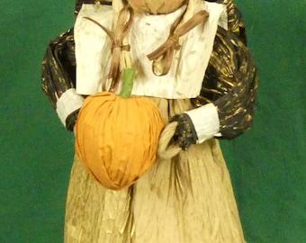 Corn Husk Decorative Faceless Doll – Thanks giving