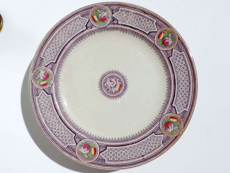 🔎zoom  sc 1 st  Etsy & French Antique Plates/Antique IronstonePlates/Antique Emile