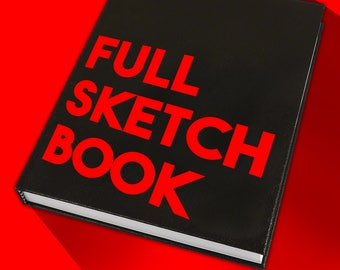 Full Sketch Book 100+ Drawing You Choose Theme