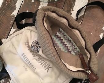 Crossbody boho upcycled purse bag