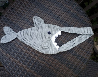 Handmade Crochet Shark Bag