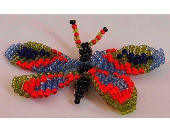 Miniature Butterfly seed beads and copper wire