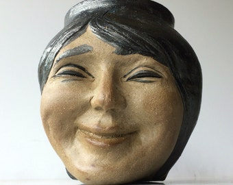 Smiling Woman's Face Sculpture, Naked Man Pot, Old Master Painting Vessel after Raphael