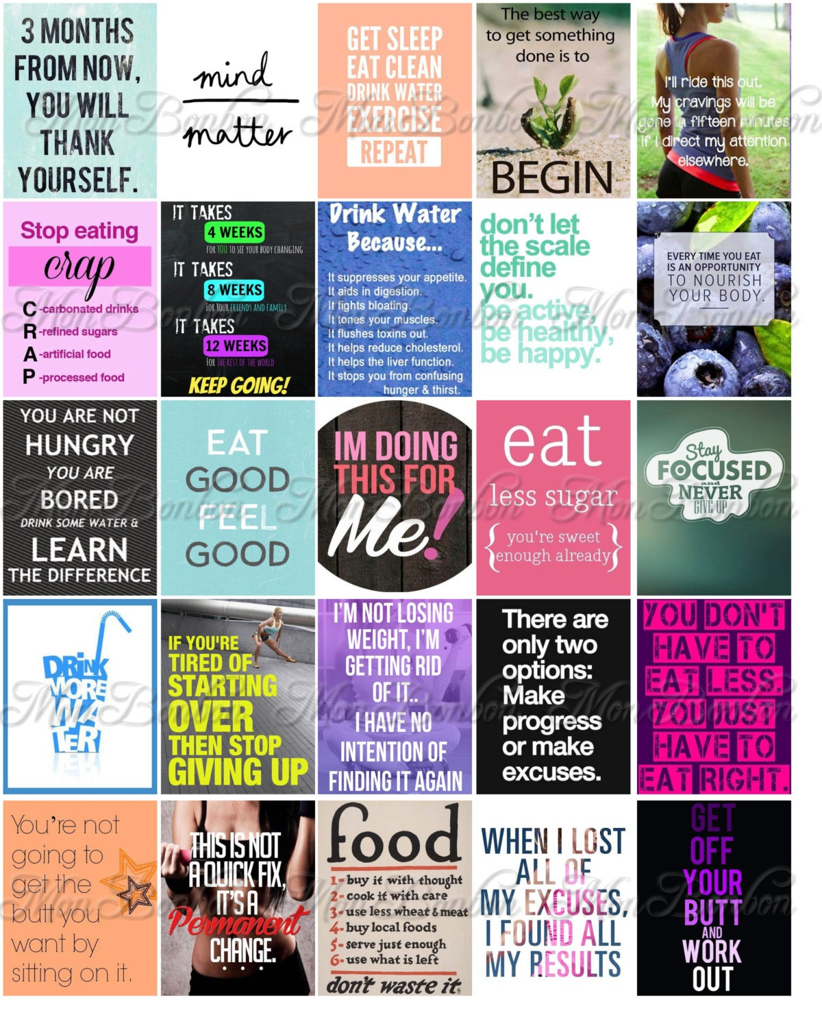 Motivational Diet/Weightloss Quote Stickers for your Erin ...