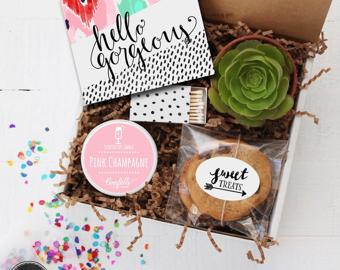 Hello Gorgeous Gift Box - Thinking of You Gift | Thank You Gift | Friend Gift | Get Well Gift | Best Friend Gift |Gift For Her