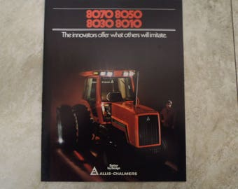 Allis- Chalmers 8000 Series tractor Literature